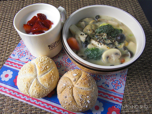 牡蠣と茸のクリームシチュー弁当01