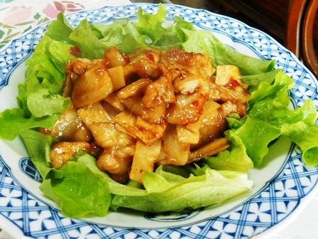 筍と豚肉のアジアン炒め