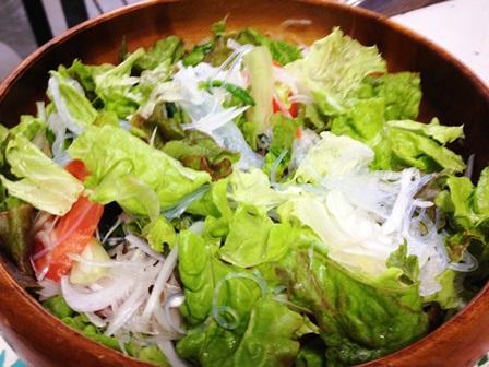 新玉葱と春雨サラダ