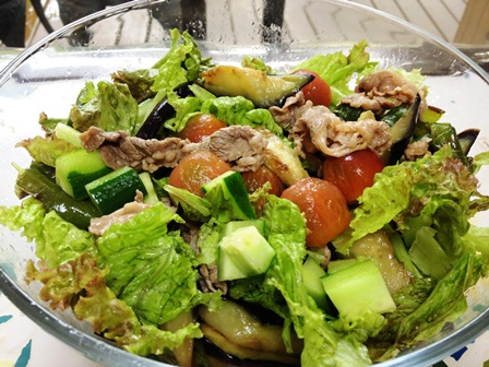 牛シャブと夏野菜のサラダ
