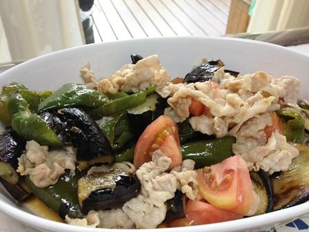豚シャブと夏野菜のサラダ