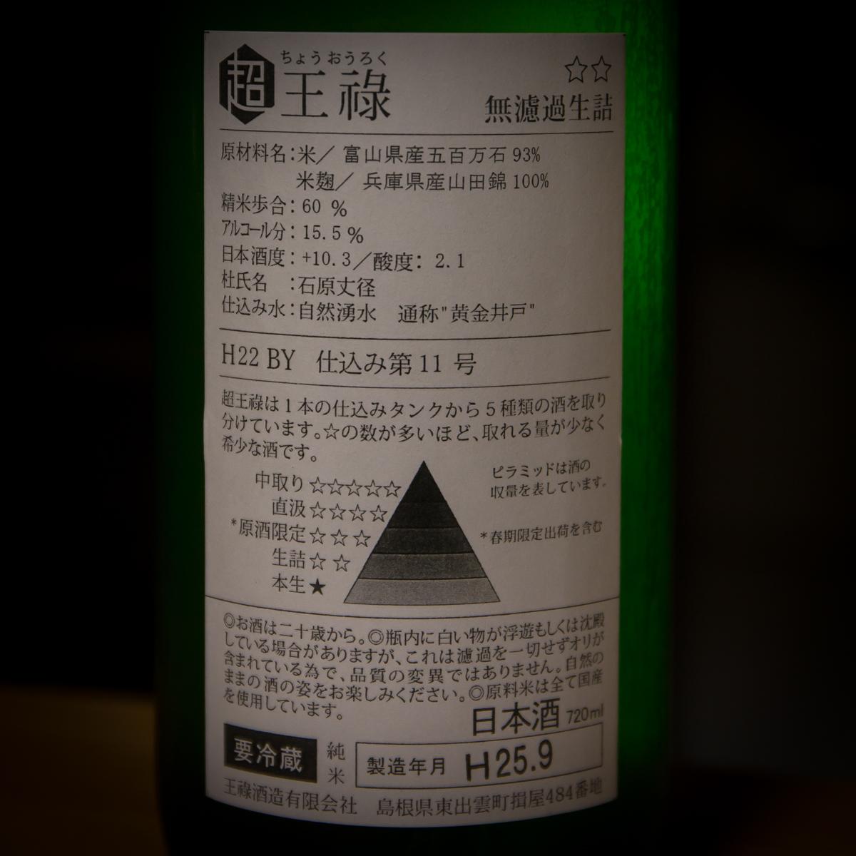 王祿ひやおろし(4)