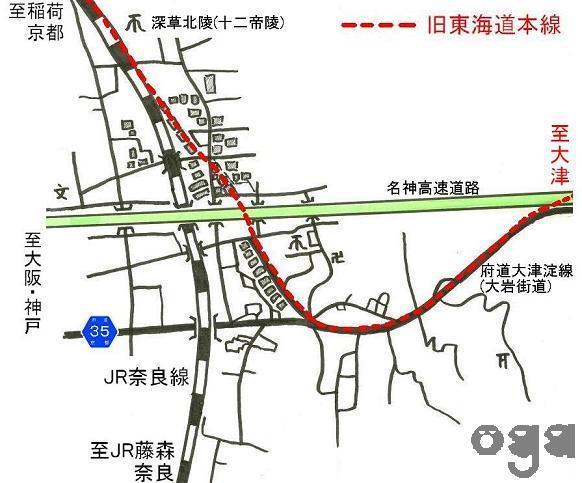 旧東海道本線 深草周辺 (9)