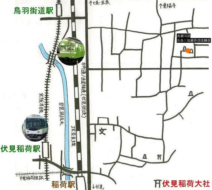 稲荷地図 A