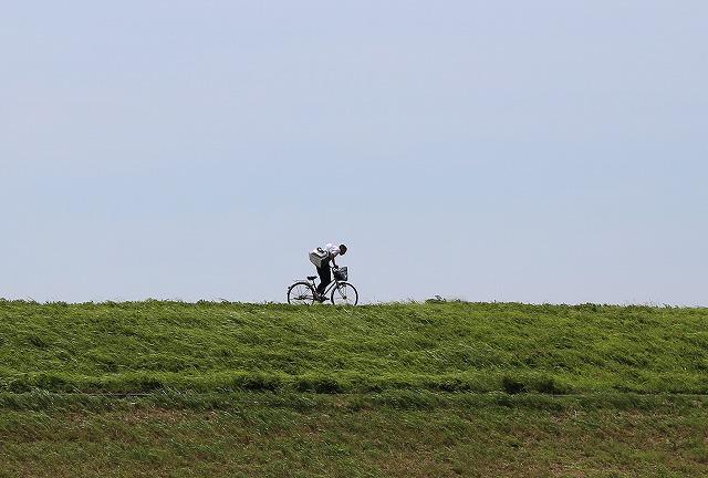 斐伊川土手自転車