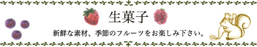 ブログタイトル生菓子