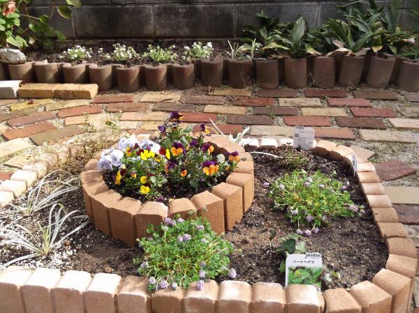 2012年4月15日花壇に植えた花