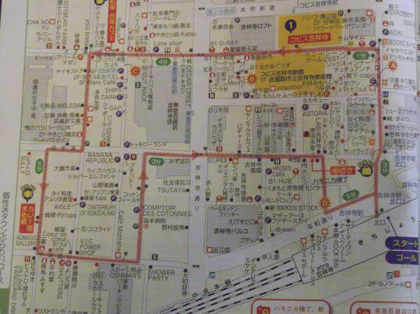 2012年4月22日吉祥寺地図