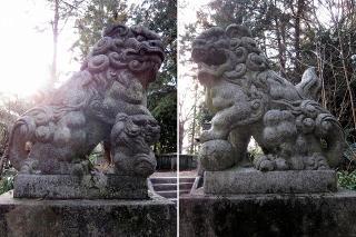 日吉神社(招魂社)の狛犬