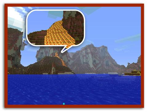 MC珍しい溶岩の滝