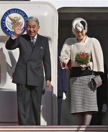 インドへご出発の両陛下(産経新聞)