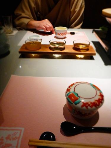 梅酒とクエ茶碗蒸し