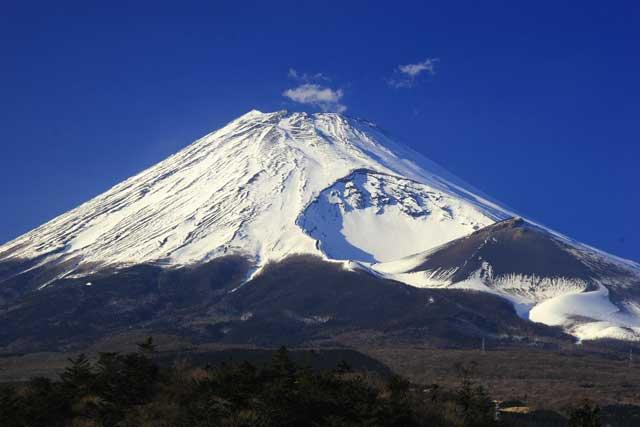 現在の富士山宝永火口 : 富士山...