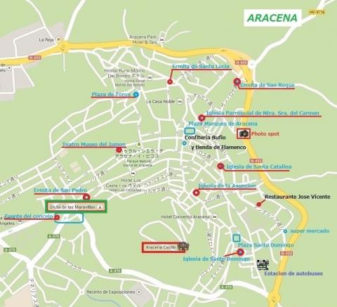 Mapa de Aracena 22