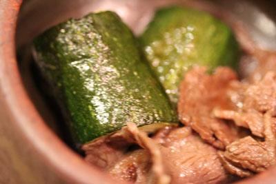 ズッキーニと牛肉ポン酢