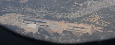 建設中の静岡空港