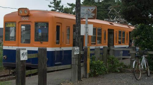 銚子電鉄-外川駅にて