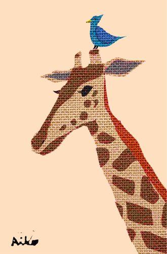 giraffe and Hiyodori