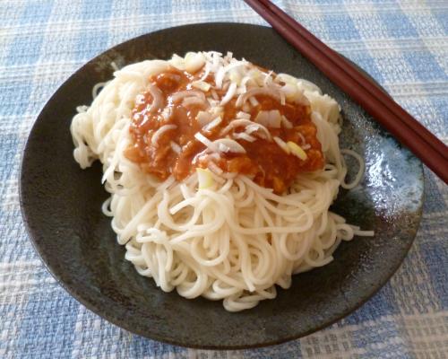 130720鶏味噌素麺