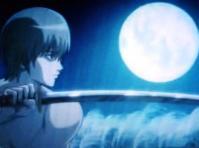 銀魂 沖田と月と刀とすすき