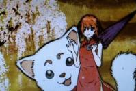 神楽・狛犬・桜