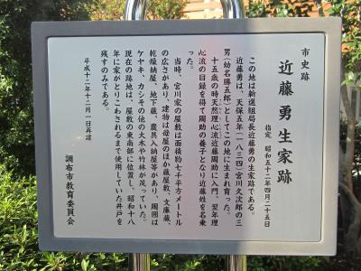 都立野川公園 近藤勇 生誕の地