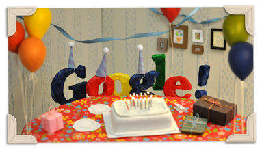 Google's 13th bday logo