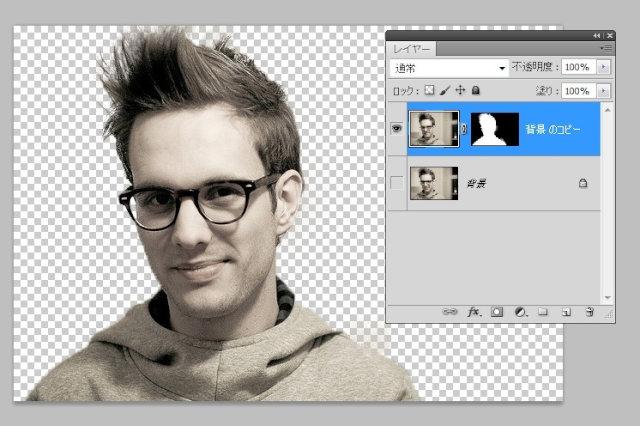 Photoshopで髪の毛の切り抜き5