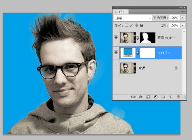 Photoshopで髪の毛の切り抜き6