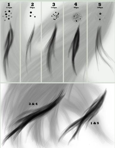 フリーブラシ髪の毛
