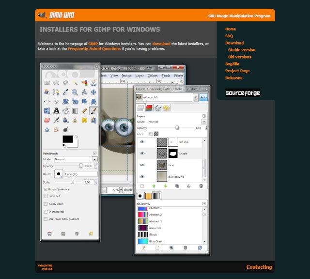 GIMPフリーソフトはフォトショップに匹敵