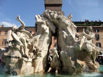 ローマ080四大河の噴水
