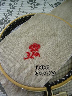 Xステッチ 赤バラ