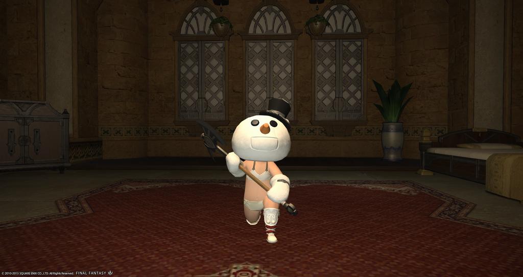 裸雪だるま