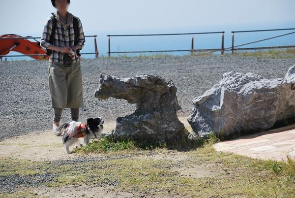 石灰岩のオブジェと