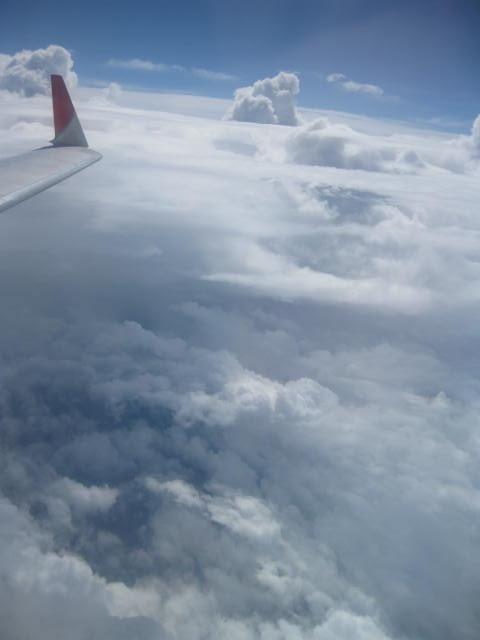 雲の谷間?