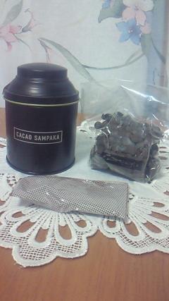 チョコレートドリンクを・・・