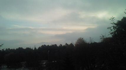 駒ヶ根で休憩 やわらかい空