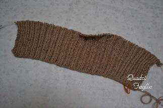 2011 A/W ロングジレ 後ろ編み始め
