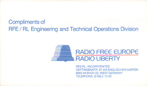 Compliments of RFE / RL Engineering and Technical Operations Division