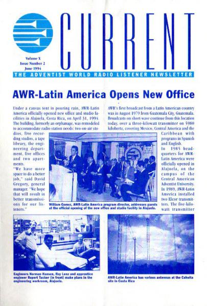 AWR CURRENT Volume X, Issue Number 2 June 1994