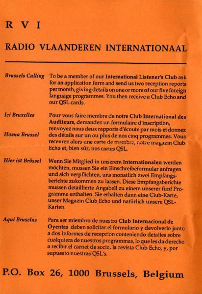 RVI RADIO VLAANDEREN INTERNATIONAAL 29.05.94