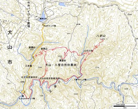 111020-八曾山のコース地図