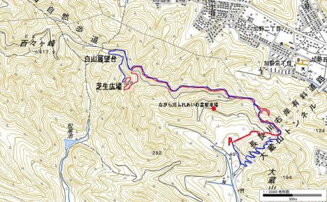 百々ケ峰-芝生広場map