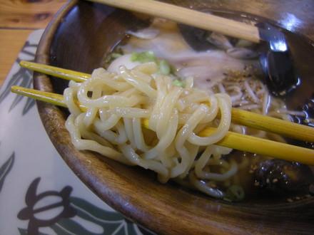 すっぽんらーめんの麺