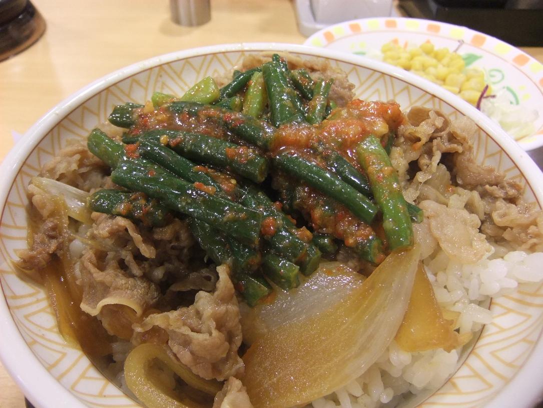 すき家:ニンニク牛丼 11.09.12