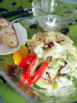 水菜入りポテトサラダ