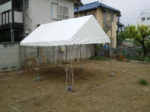 テント 地鎮祭