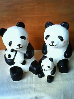 パンダ親子2