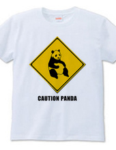 パンダ注意Tシャツ